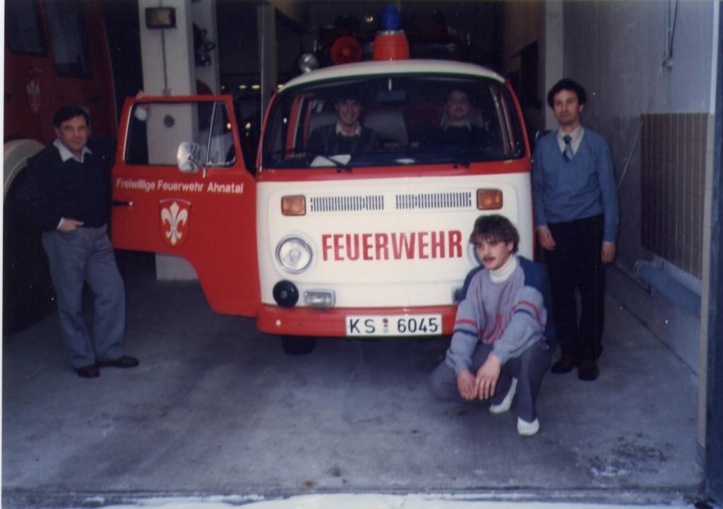 Besuch bei der Partnerfeuerwehr in Heckershausen (1986)