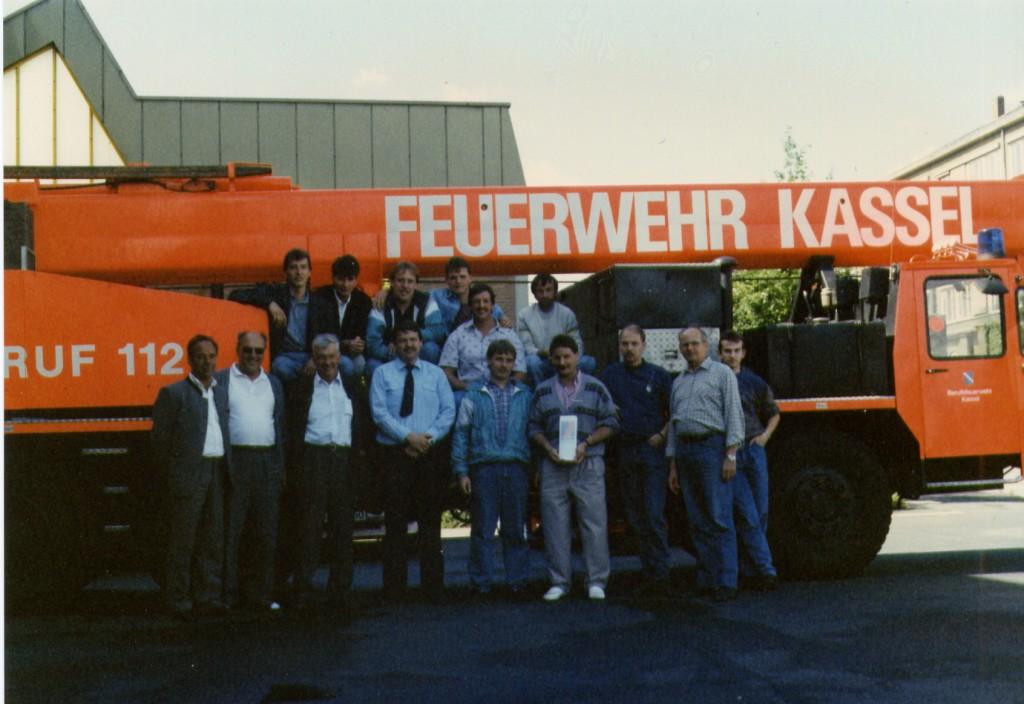 Besuch bei der Berufsfeuerwehr Kassel 1990