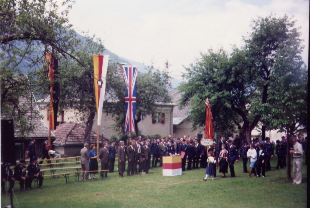 Festakt 100 Jahre FF Lind im Pfarrgarten